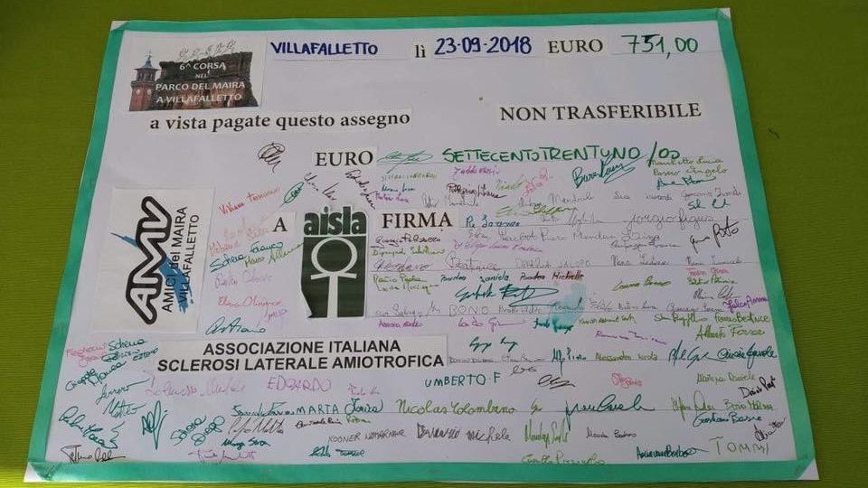 6^ Corsa nel Parco: raccolti 765 euro