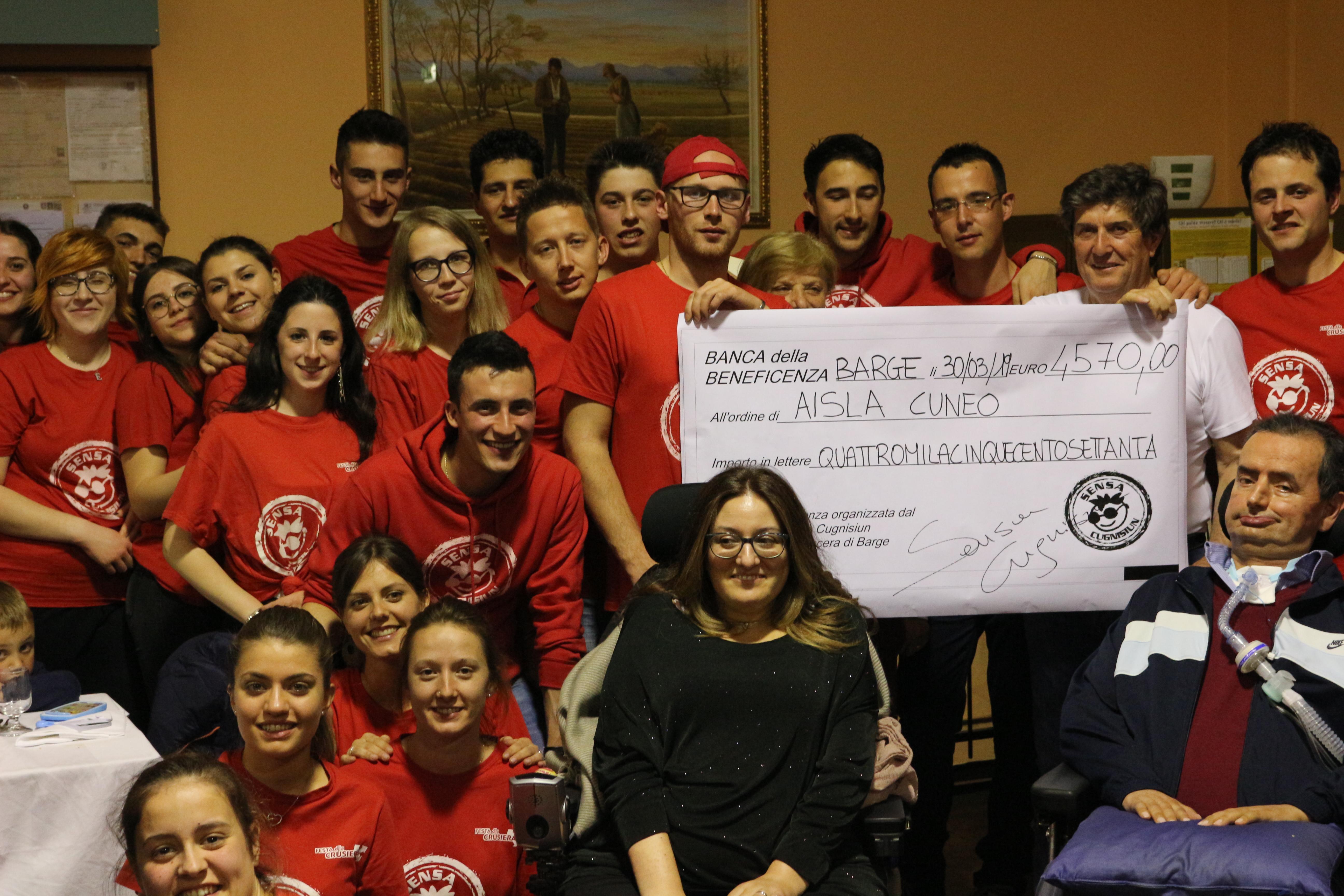 Cena benefica per AISLA: raccolti 4570 euro